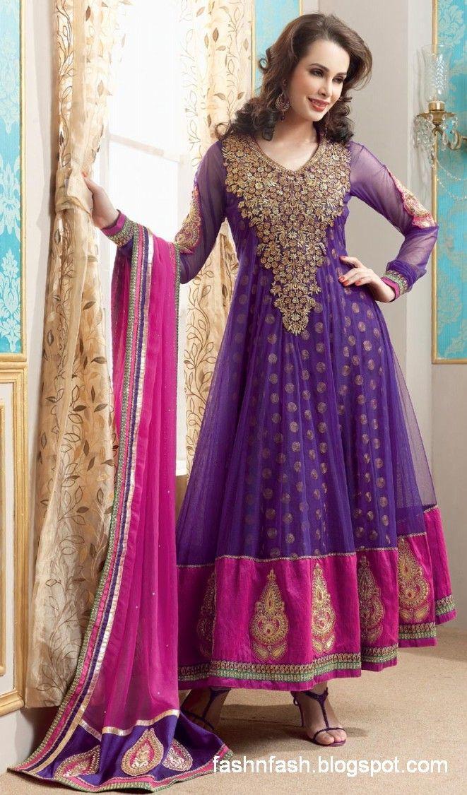 Indian Anarkali Dresses | ... Anarkali-Fancy-Frock-Clothes-New-Latest-Indian-Suits-Fashion-Dresses-7