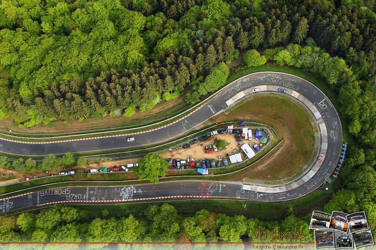 """Legendary curve - the """"Caracciola-Karussell"""" - Nurburgring"""