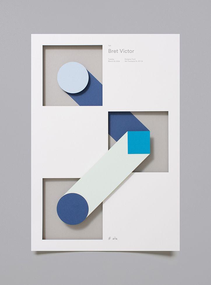 Moniker's crisp and colourful laser cut posters for Designer Fund.