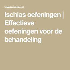 Ischias oefeningen | Effectieve oefeningen voor de behandeling