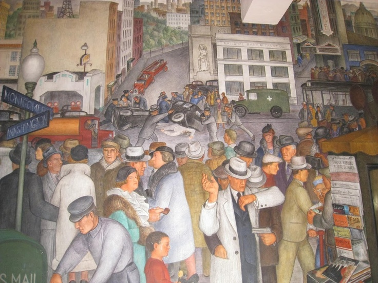 29 best coit tower murals images on pinterest murals for Coit tower mural