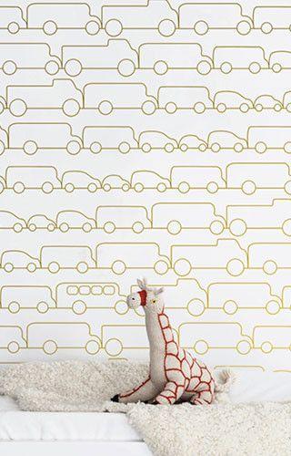 Jam Wallpaper in Charcoal by Marley + Malek Kids