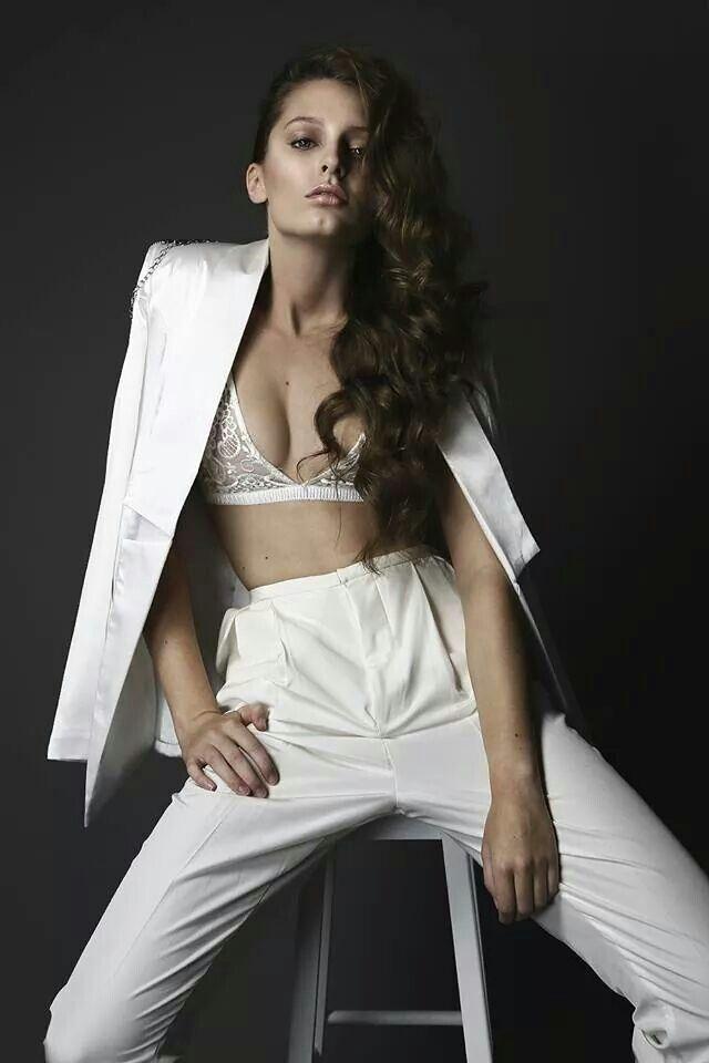 Handsome Johnny Blazer in white for Lita Magazine. White on white outfit