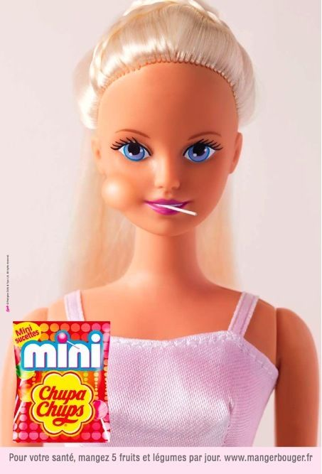Chupa Chups ad featuring Barbie :)