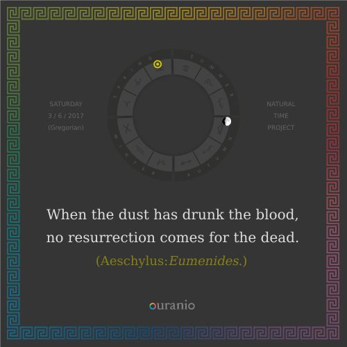 Ouranio.com | Daily quote: Aeschylus, «When the dust...»