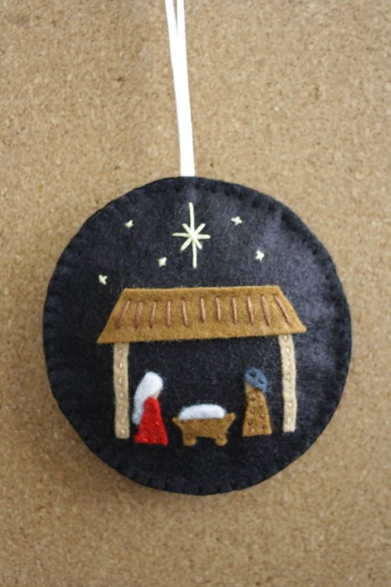 Nativity Felt Christmas Ornament/ Decoration by GeorgeNRuby