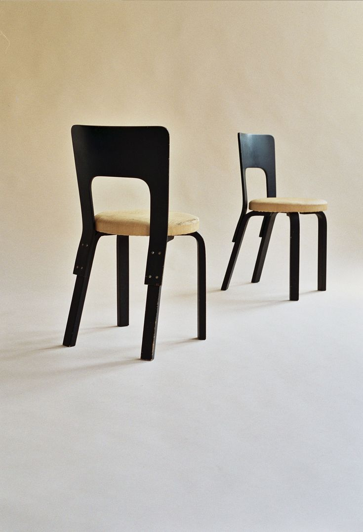 70s chairs is frank o gehry s cardboard chair wiggle side chair - 2x Dining Chair 66 Alvar Aalto Artek Finland 1940 1950s