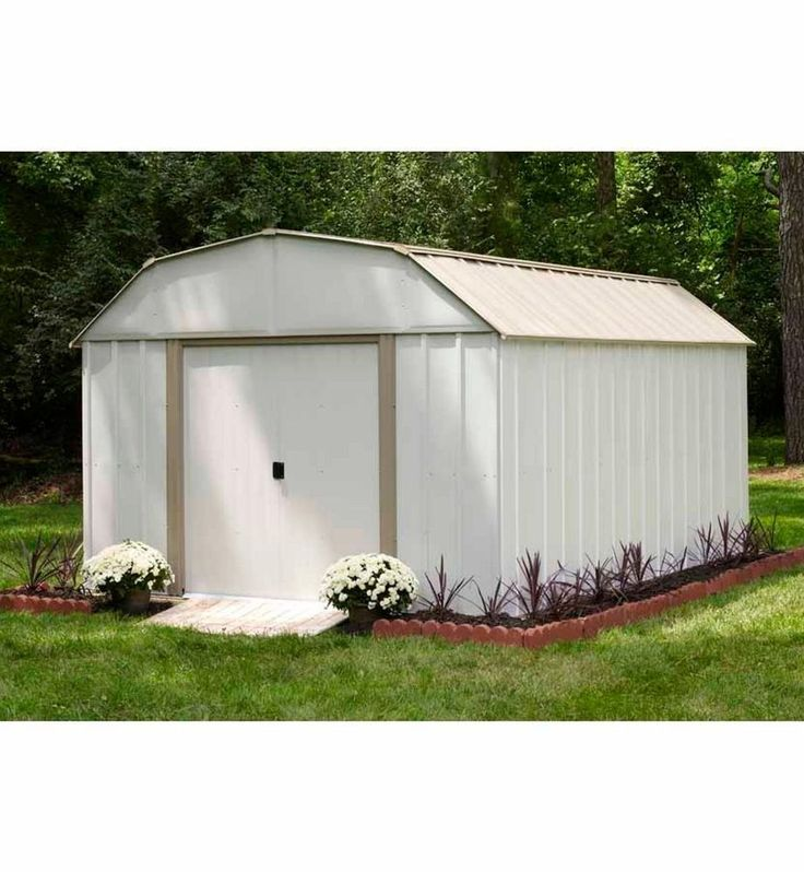 10x12 metal storage shed kit backyard outdoor building steel tool house garden - Garden Sheds Richmond Va