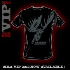 Access to watch all 2011 MRA Hunting episodes online, PLUS T-Shirt, MRA CAP, VIP Wristband, Autographed 8x10, Entry in Monthly Product Giveaways, and More...