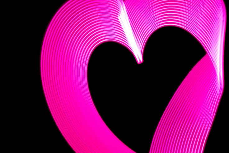 Week 26: Light Painting: Neon Pink Heart