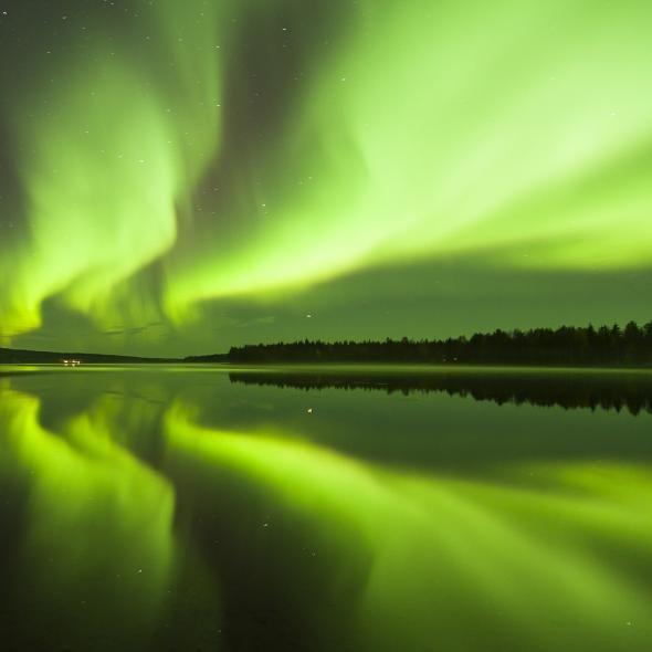 Aurora Borealis in Rovaniemi, Lapland, Finland