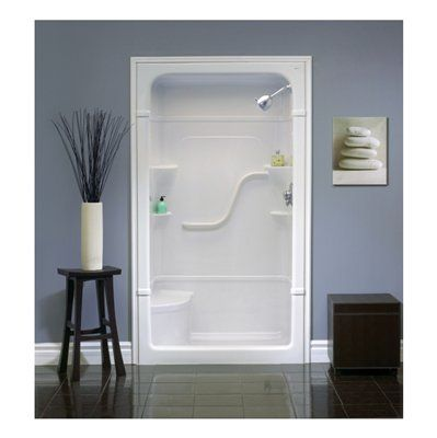 Mirolin Madison 50-in W x 34.25-in L x 84.5-in H White Acrylic Shower Wall Surround Side and Back Walls