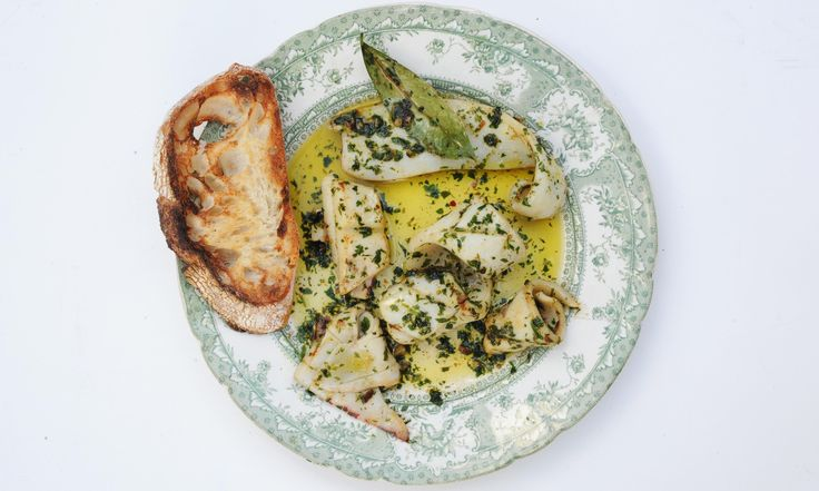 Nuno Mendes' Portuguese Garlicky Squid with Coriander
