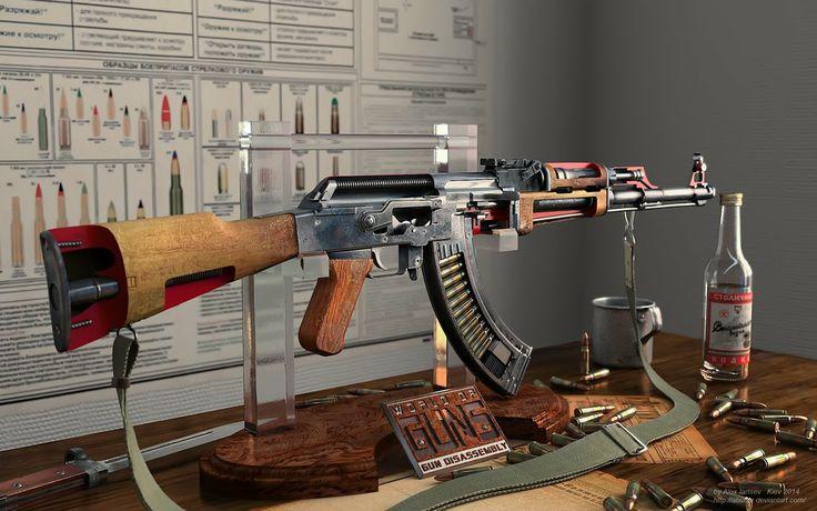 AK 47 cutaway