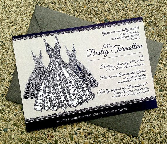 Lace Bridal Dress & Champagne Cheers Theme Custom Stationery