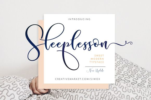 Sleeplesson Script by Siwox Core LineType on @creativemarket