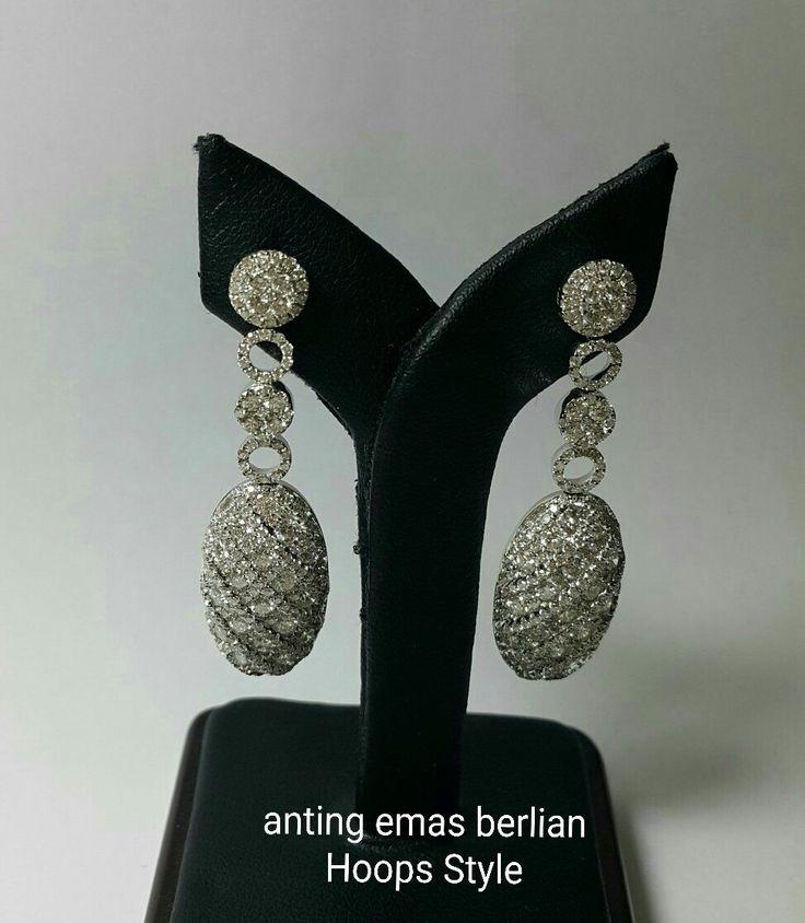 New Arrival🗼. Anting Emas Berlian Hoops Style💎.   🏪Toko Perhiasan Emas Berlian-Ammad 📲+6282113309088/5C50359F  Cp.Antrika👩.  https://m.facebook.com/home.php #investasi#diomond#gold#beauty#fashion#elegant#musthave#tokoperhiasanemasberlian