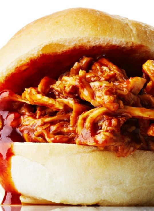 Low FODMAP Recipe and Gluten Free Recipe - Pulled chicken with barbecue sauce http://www.ibssano.com/low_fodmap_recipes_pulled_chicken_barbecue_sauce.html