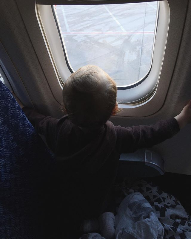 This cutie pie loves to travel. He did so well with all our adventures last week. The funniest part of traveling with a baby is the look of fear of other passengers when you come on board with a baby. 😬Then, once they realize he's a frequent flyer, they all want to hold him and become best friends. 😂 I think a blog post about traveling with a 1 year old will hit the blog soon!👶🏻❤✈️#travel #travelwithkids #planes #travelgram #Michigan #annarbor #ifwecanswingit  #kids #neverstopexploring…