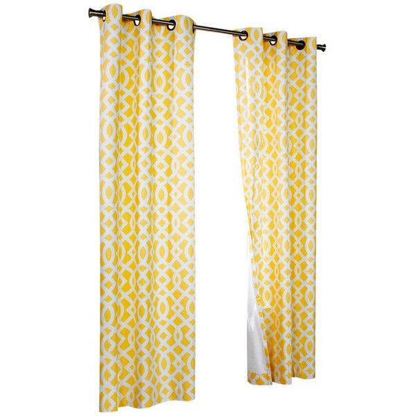 Trellis Grommet-Top Curtain Panels - Contemporary - Curtains - by... ❤ liked on Polyvore featuring home, home decor, window treatments, curtains, grommet drapery panels, grommet draperies, contemporary window coverings, contemporary window panels and contemporary curtains