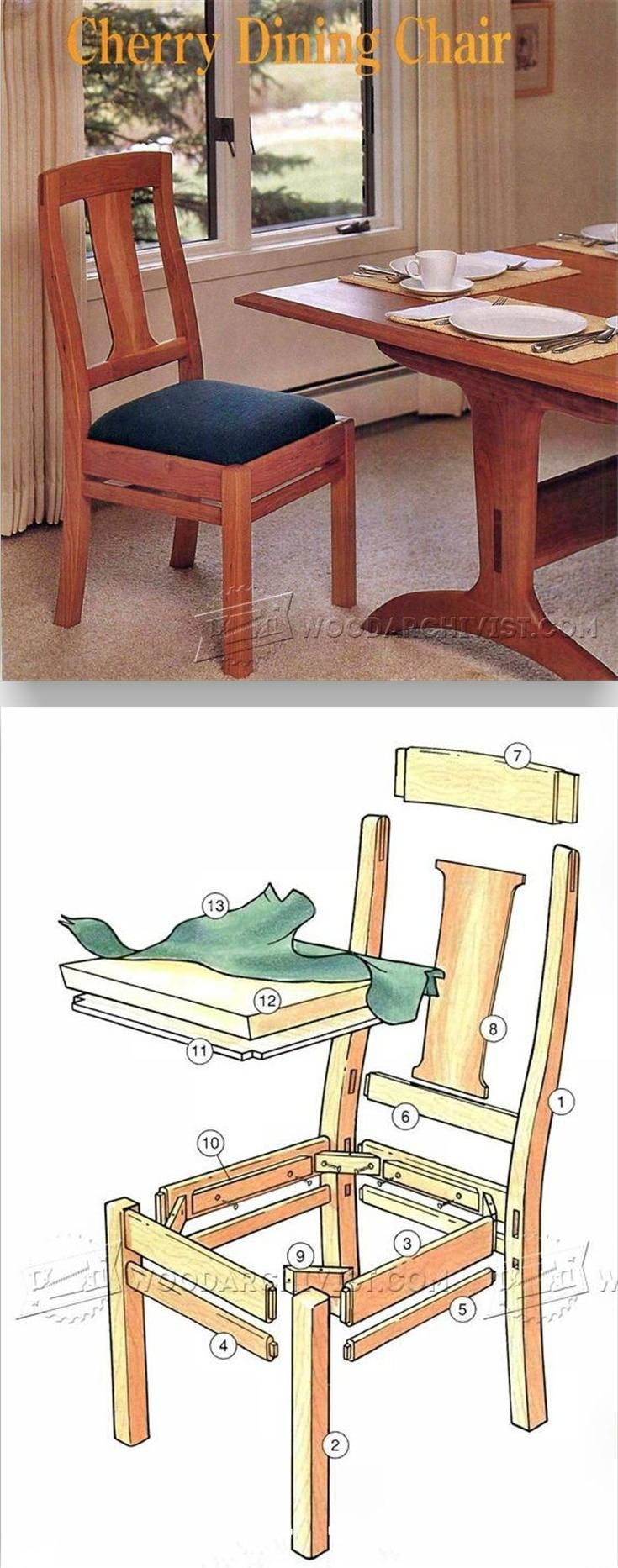 Cherry Dining Chair Plans - Furniture Plans and Projects | WoodArchivist.com
