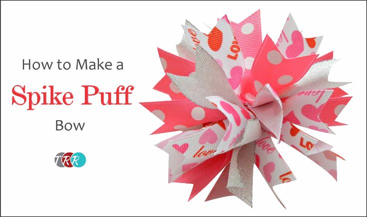How to Make a Spike Puff Hair Bow - TheRibbonRetreat.com