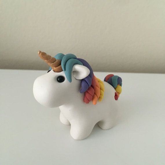 Everyone needs a unicorn buddy! You may request any colors. Made from polymer clay  1.5 x 1.5