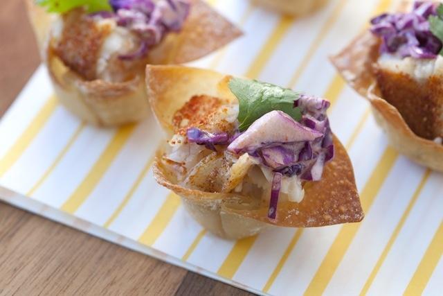 Yum, mini fish tacos