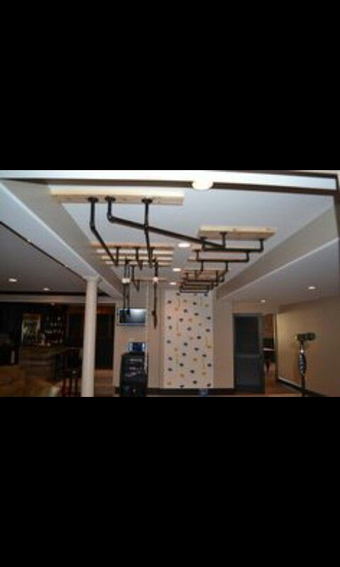 Dont you want one this is so  awesome looks more fun than any other jungle gym-park-rock wall but in your house awesome