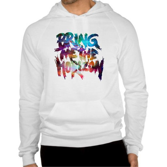 bring me the horizon logo in  galaxy hoodie  size by coollandart