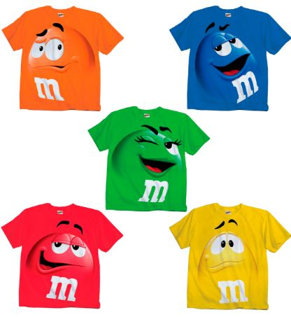 T Shirts -M&M Group Costumes - M&M&s Merchandise