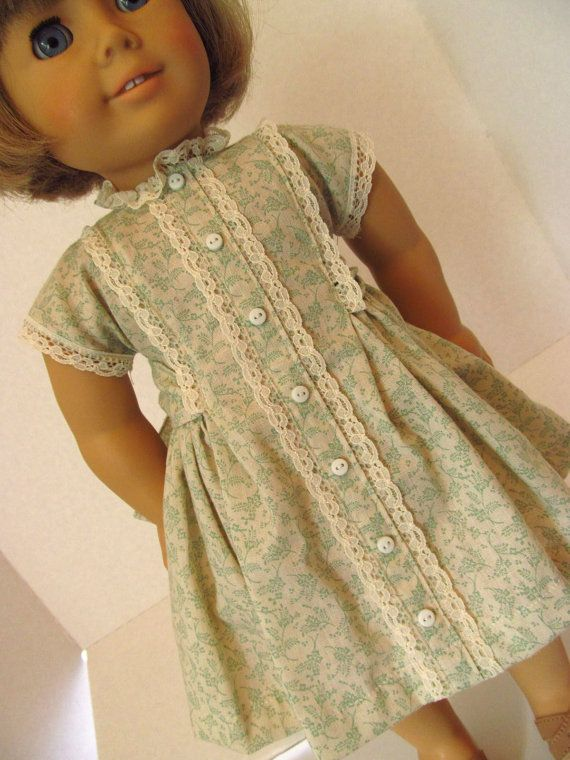 Vintage Style Dress American Girl Doll Clothes by fashioned4you