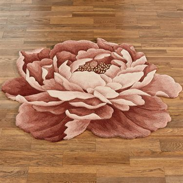 Nancy Bloom Peony Flower Shaped Rugs