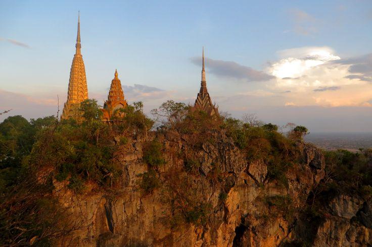 At the top of the bat caves in Battambang