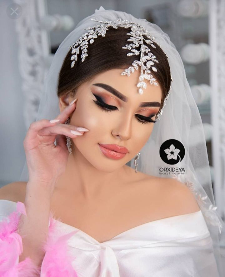 Pin By Aysun Mirzeyeva On Orxideya Makeup Baku Wedding Hair And Makeup Wedding Hairstyles Makeup