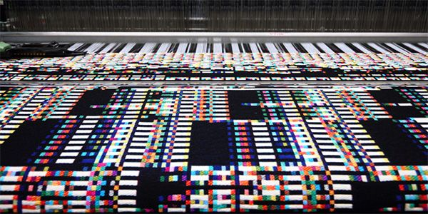 Woven tapestry is a literal translation of a computer's physical memory by Philip Sterns (august 2013)