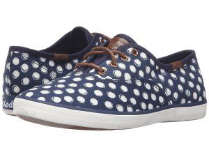 Keds Kids Champion Prints (Little Kid/Big Kid) (Navy Dots) Girl's Shoes