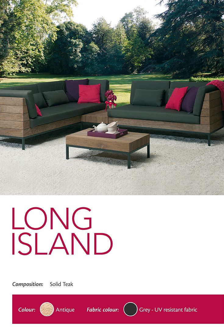 These Long Island Modular #Sofa, #Armchair And #CoffeeTable In Solid #Teak  Will Surely Make Your #outdoor Area The Focus Of Your #summer! These # Furniture ...