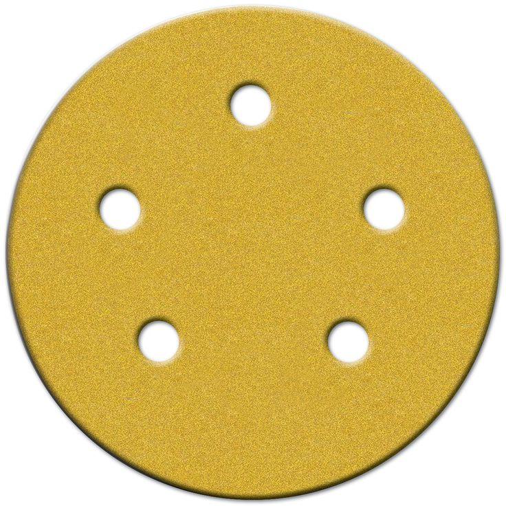 """Norton 49166 5"""" 150 Grit Fine Hook & Loop Sanding Discs W/5 Holes 4-count"""