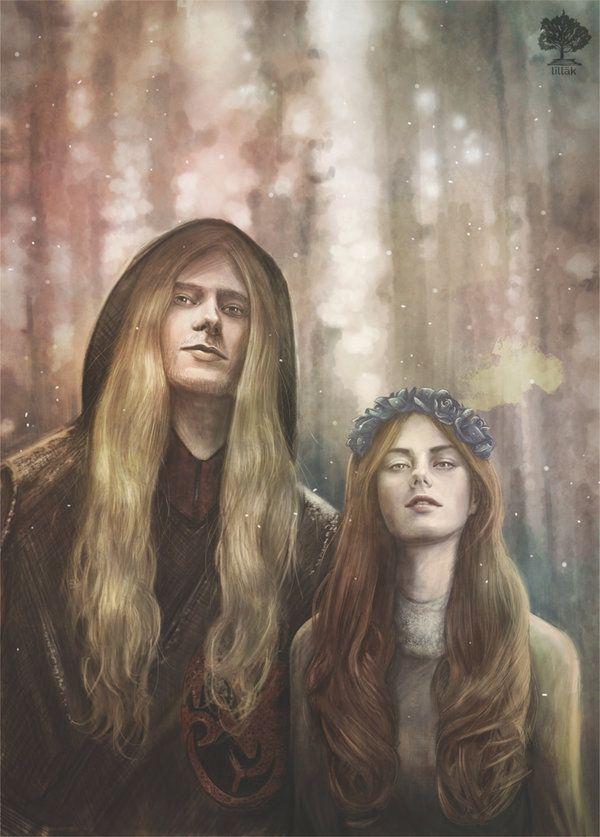 Rhaegar Targaryen and Lyanna Stark by lillak-illustration.deviantart.com on @DeviantArt