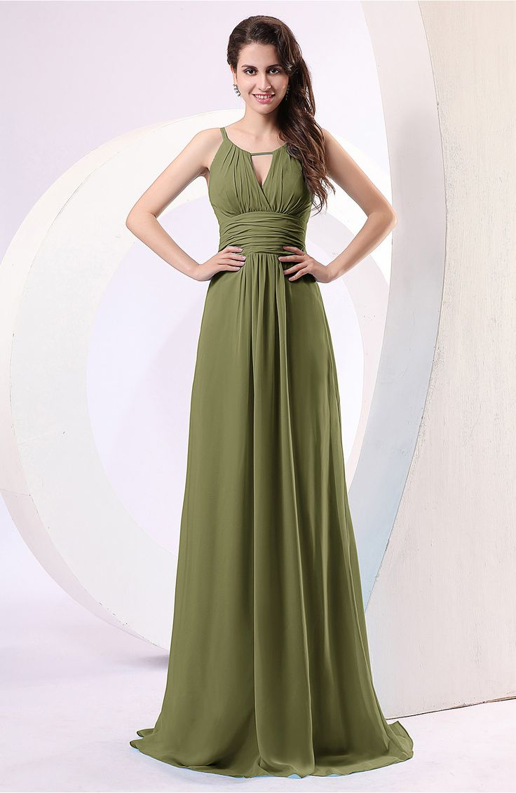Best 25 olive bridesmaid dresses ideas on pinterest sage olive green evening dress plain column scoop zipper chiffon ruching ombrellifo Choice Image