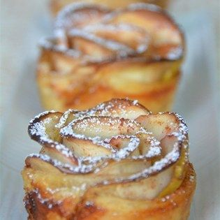"""Baked Apple Roses I """"I followed the recipe exactly and the roses came out looking just gorgeous! Crispy on outside and quite tasty."""""""