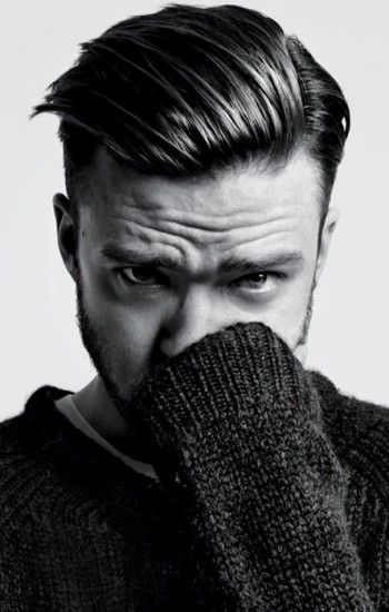 Justin Timberlake styling a very now combover.