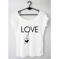 Time For Fashion Love love / t-shirt biały