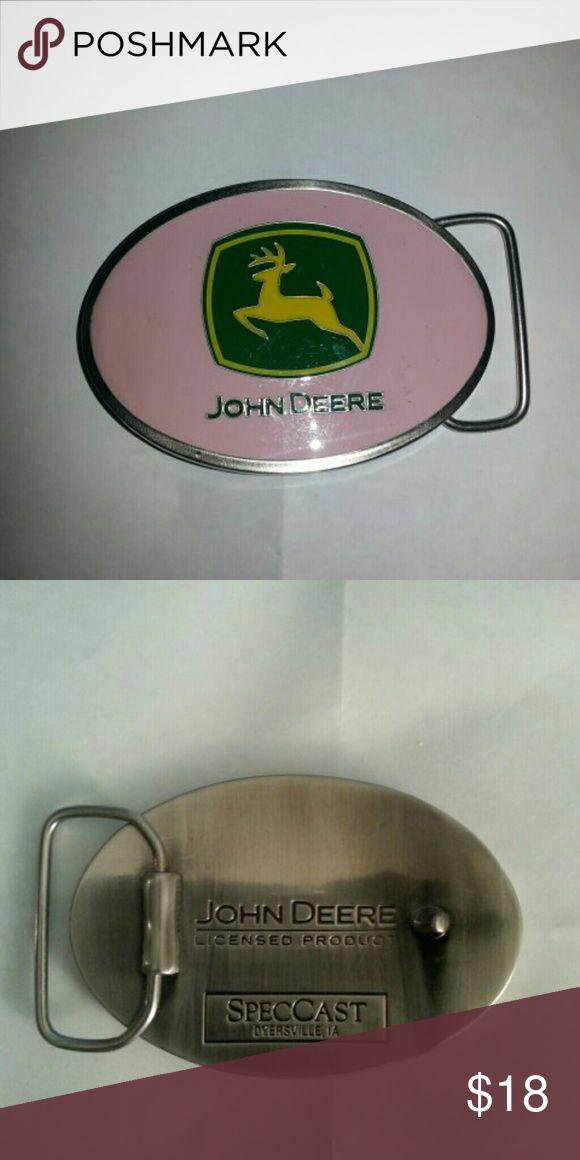 John Deere women's Pink belt buckle NWOT John Deere Other