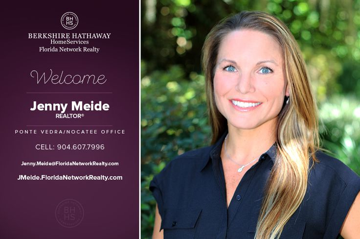 BERKSHIRE HATHAWAY HOMESERVICES FLORIDA NETWORK REALTY WELCOMES JENNY MEIDE