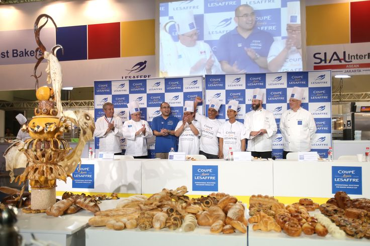 [INDONESIAN TEAM - Asia Selection - Louis Lesaffre Cup]  Notation show with the jury members - last minutes of competition for the Indonesian team, fisrt team to compete for the Asia Pacific selections  #BakeryLesaffreCup #Asia #Indonesia #bread #baking #SIALInterFOOD2015