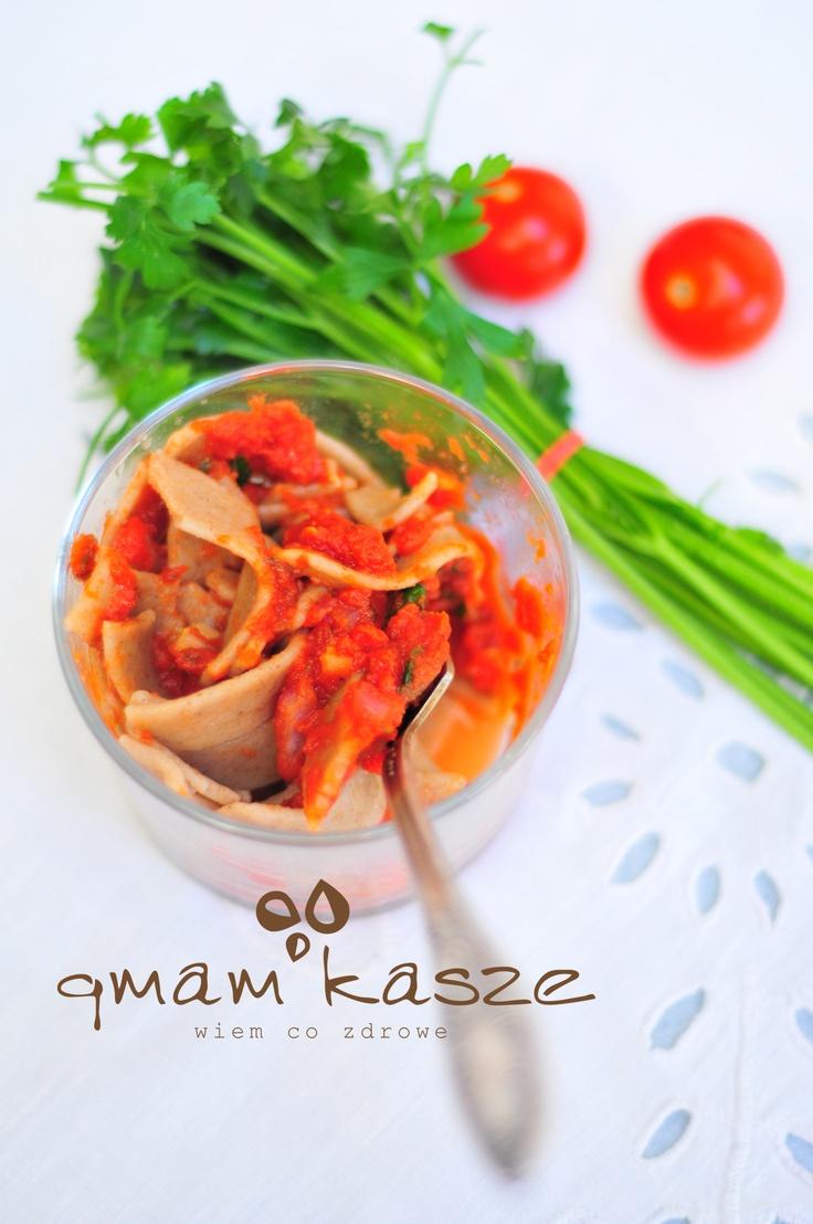Rye pasta & tomatoes
