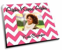 Alpha Kappa Alpha Chevron Picture Frame SALE $22.95. - Greek Clothing and Merchandise - Greek Gear®