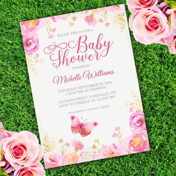 23 best Bridal shower invitations templates images on Pinterest - editable baby shower invitations